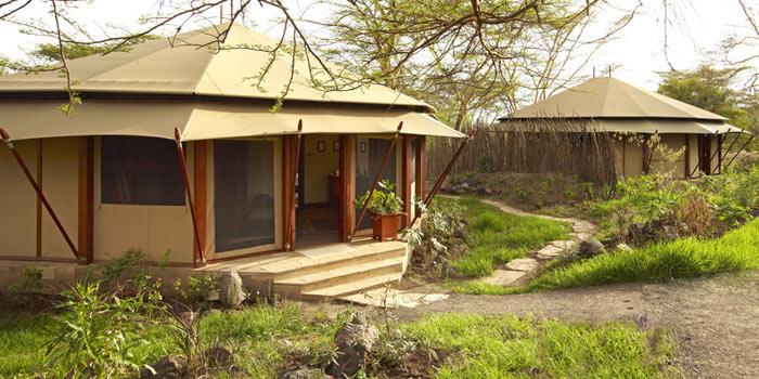 Tented suite exterior