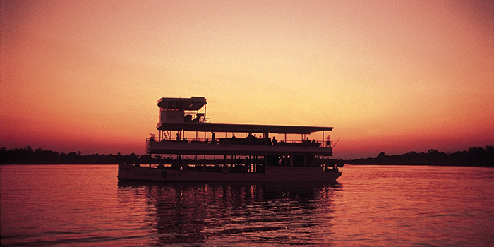 Sunset cruise on the Zambezi