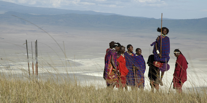 Masai in the Crater