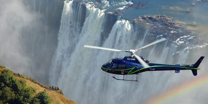 Helicopter over the Falls