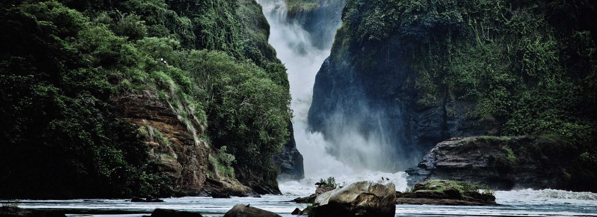 Waterfall At Bwindi National Park
