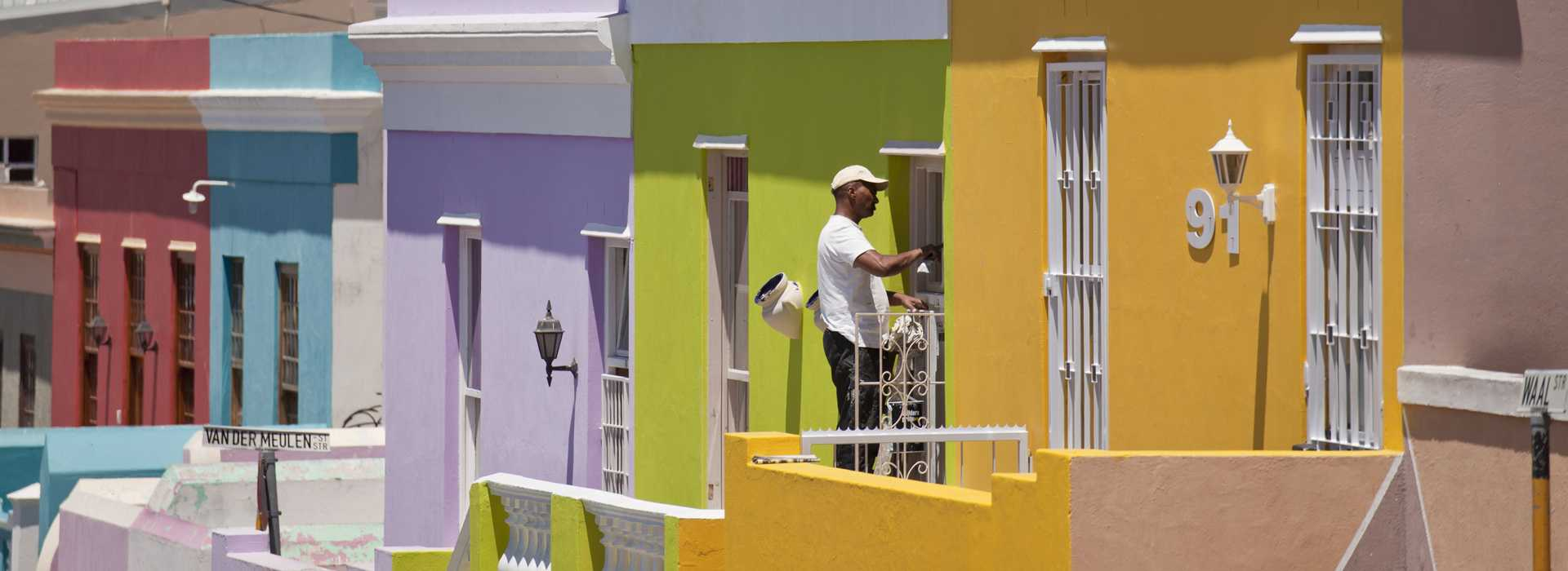 Colourful Houses At Bo Kaap