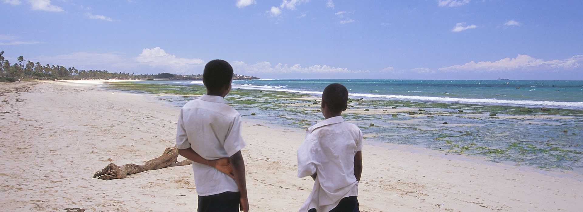 Two Boys On The Beach In Dar Es Salaam