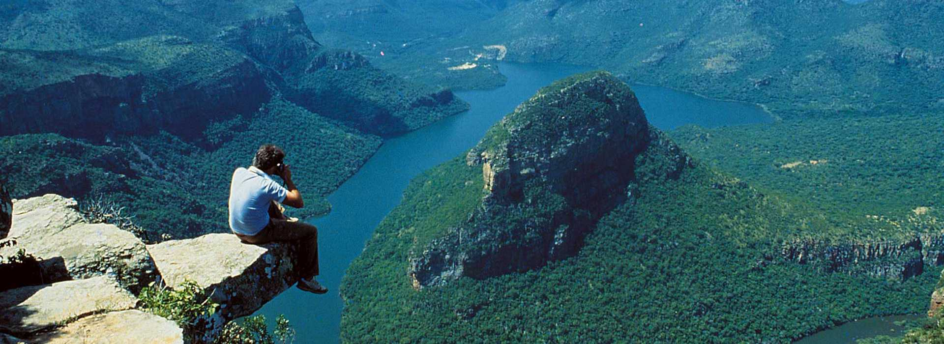 Man Photographing Blyde River Canyon