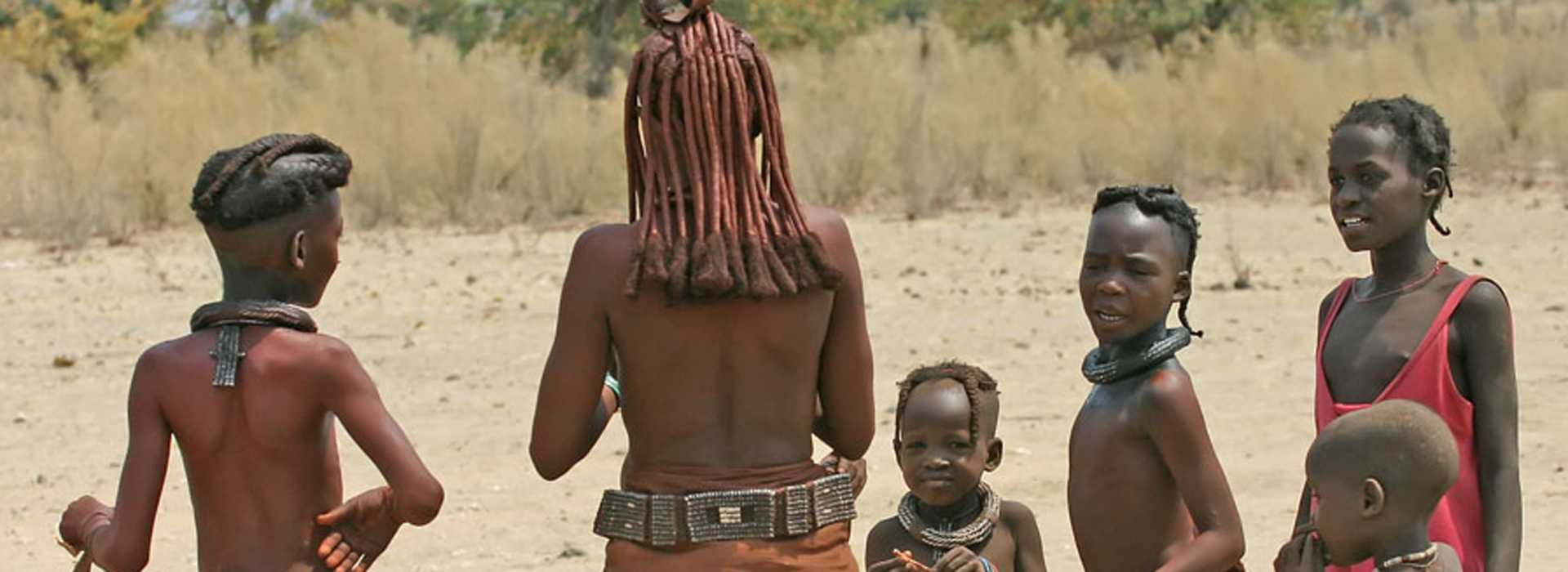 Himba Tribespeople At Skeleton Coast