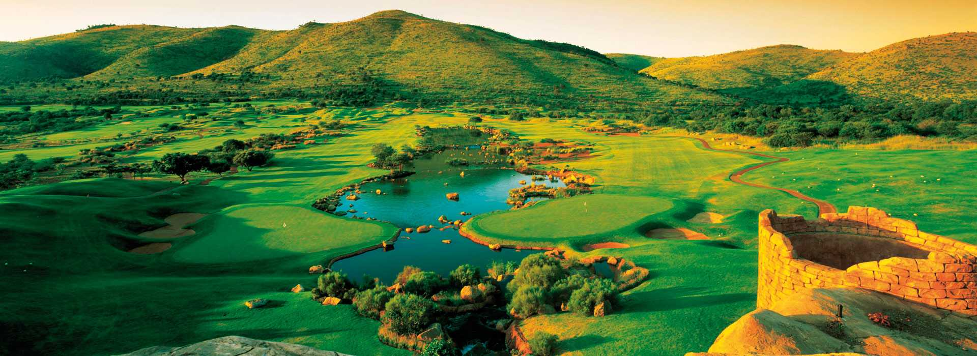Golf Course At Sun City, South Africa