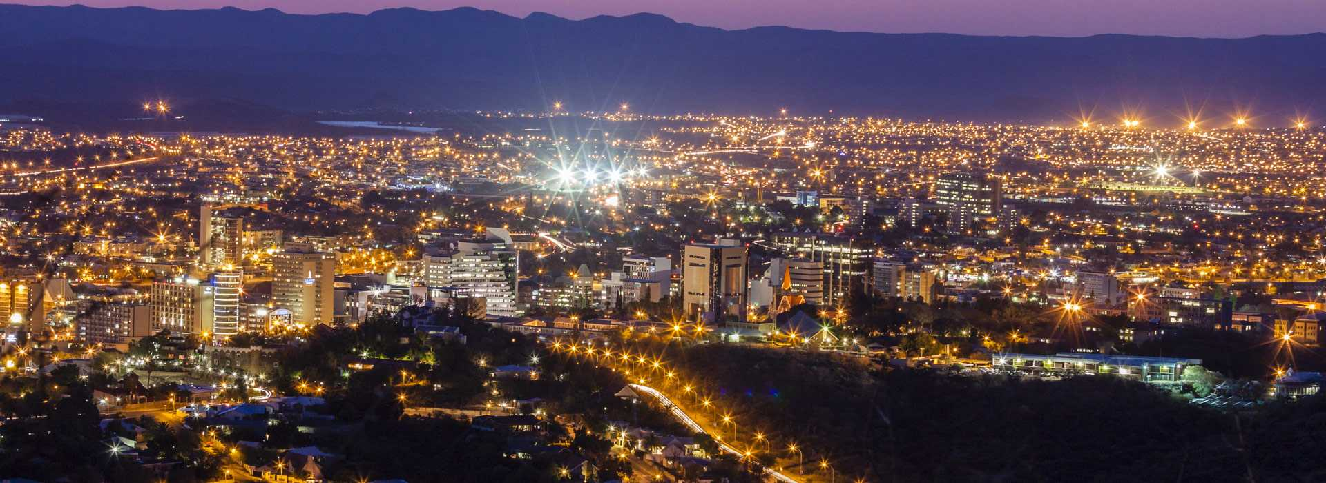 Windhoek City Centre At Night