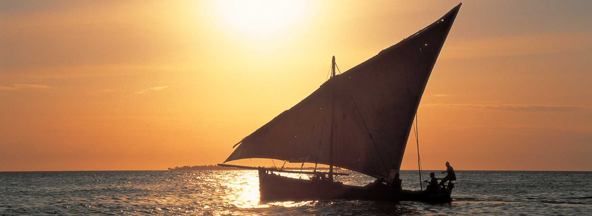 Dhow At Sunset In Zanzibar