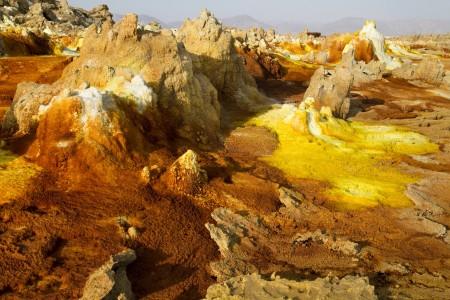 Sulphure formations in Ethiopia