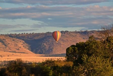 Hot-air Balloon Over the Masai Mara, Kenya