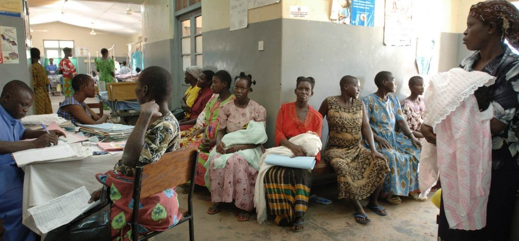 Women with babies in AMREF clinic