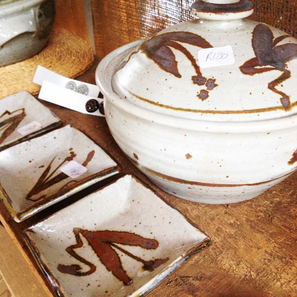 Pottery at a market in South Africa
