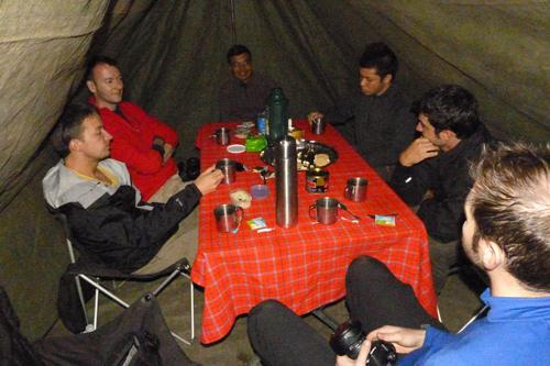 Dining during a Mount Kilimanjaro Climb