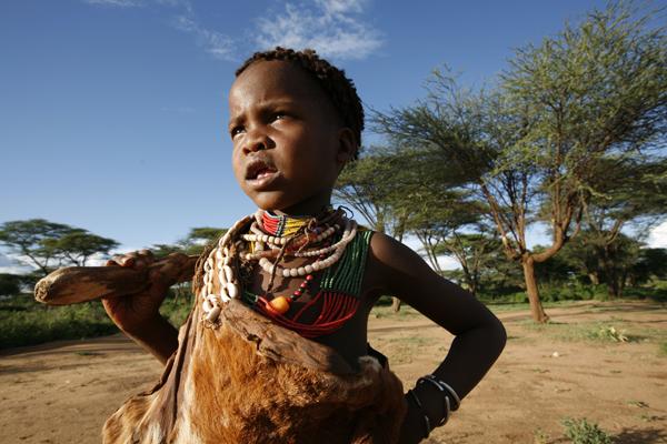 Tribe child in Ethiopia