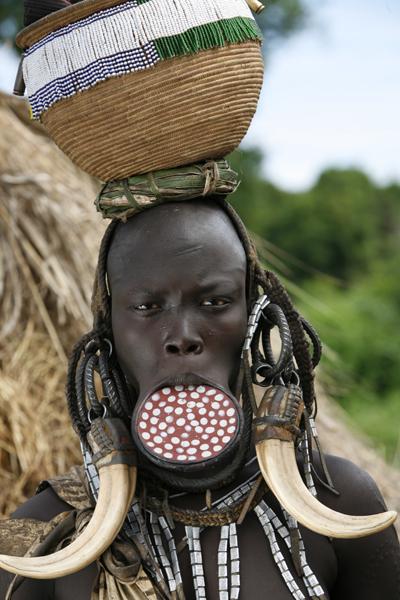 Tribesperson in Ethiopia