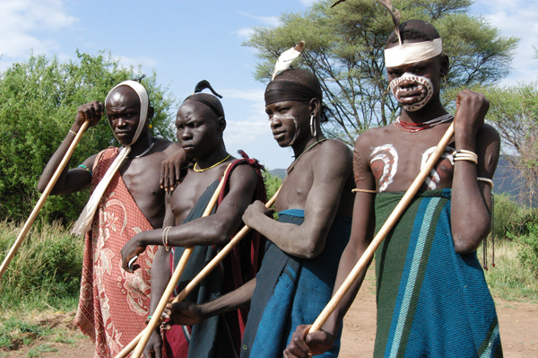 4 tribesmen in Ethiopia