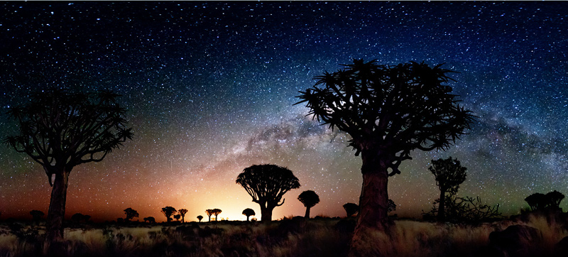 Amazing starry sky in Namibia