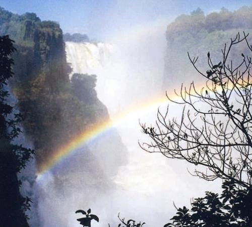 Rainbow over Victoria Falls, Zambia