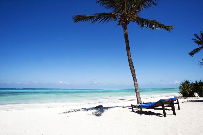 Beautiful beach in Tanzania