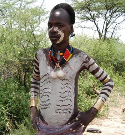 Tribe boy in Ethiopia