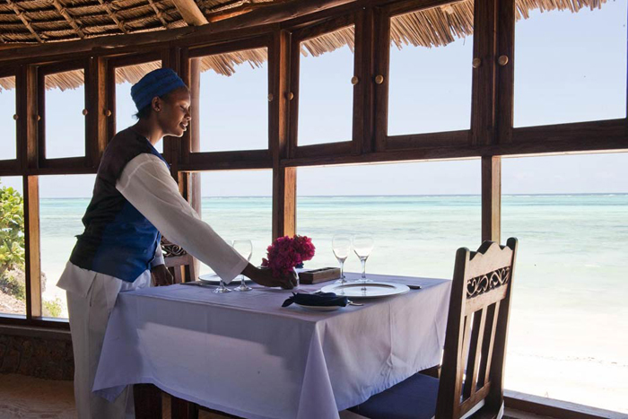 Dinner with a view at Karafuu Beach Resort & Spa
