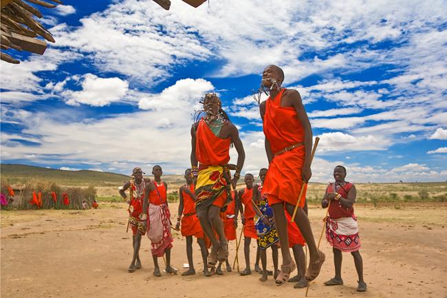Masai Warriors in Kenya