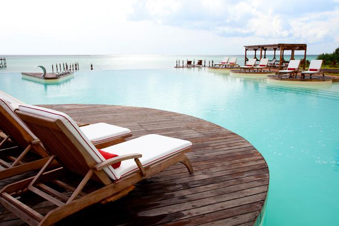 Stunning pool at Essque Zalu Hotel, Zanzibar