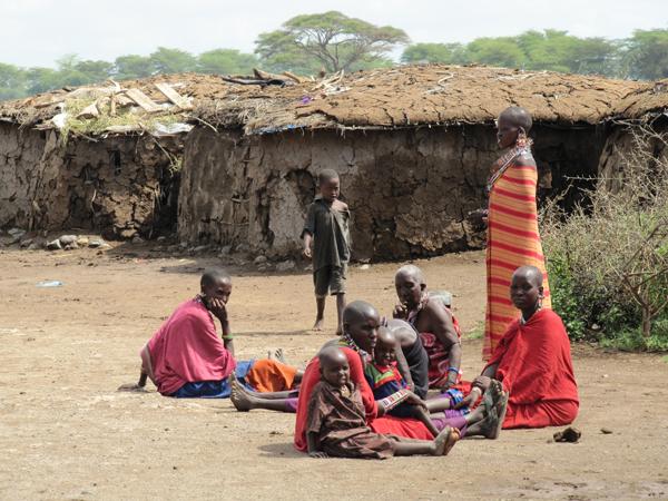 Masai Village in the Masai Mara, Kenya