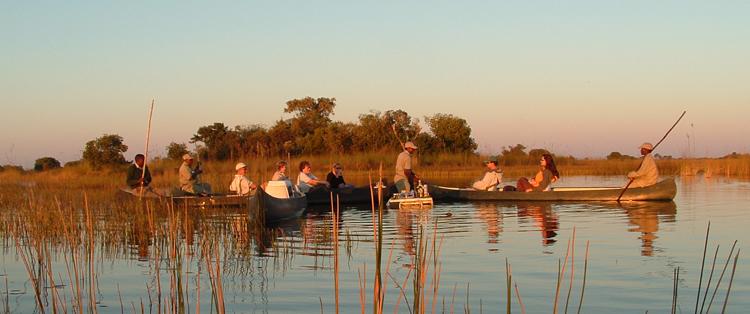 Mokoro trip on the Okavango Delta, Botswana