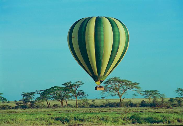 Balloon flight over the Serengeti