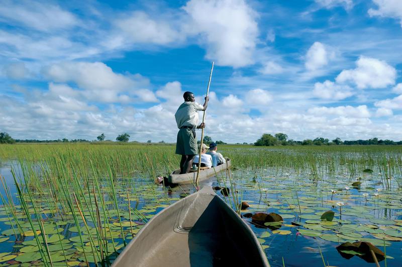 Mokoro ride on the Okavango Delta, Botswana