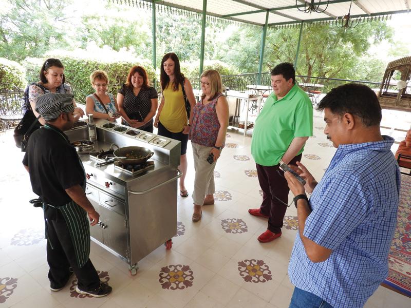 Cooking demonstration, JaIpur, India