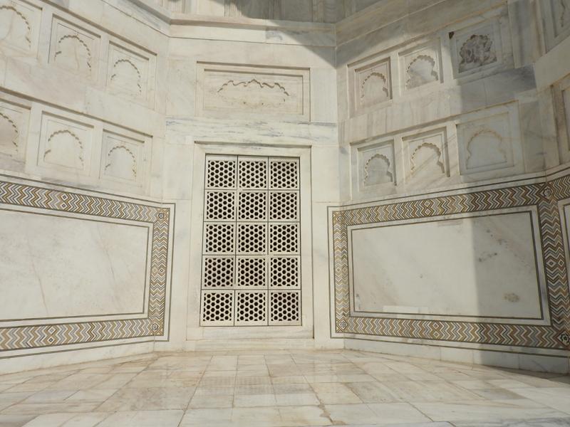 Beautiful Taj Mahal fresco, Agra, India