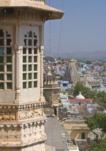 View from the CITY PALACE of UDAIPUR with the JAGDISH TEMPLE dedicated to Vishnu