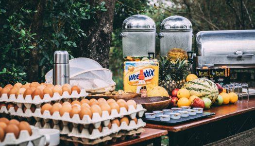a bush breakfast whilst on safari in Kenya
