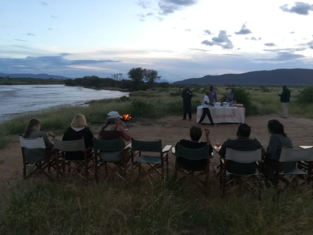 Sundowners at Elephant Bedroom camp