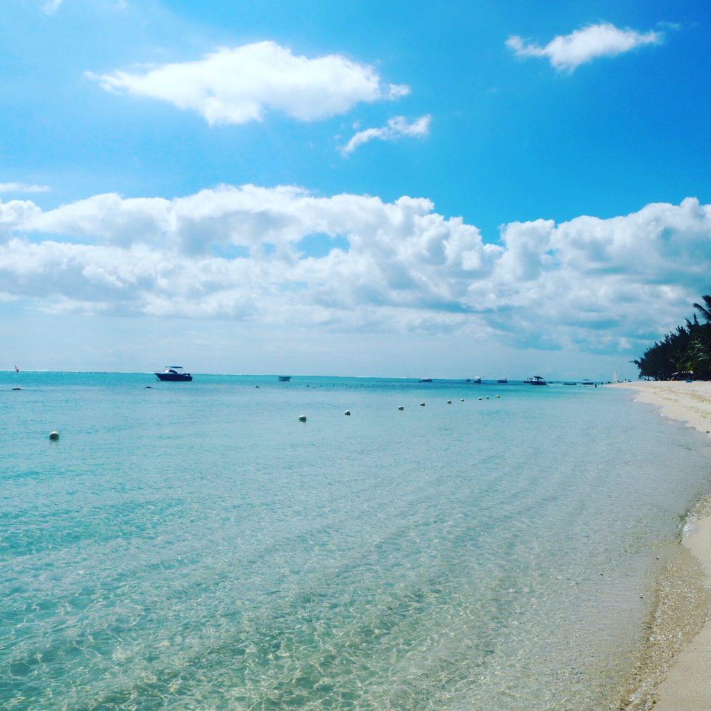 Stunning beach in Mauritius
