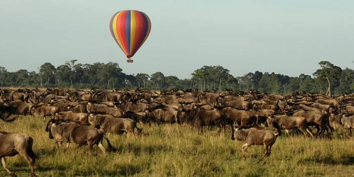 Hot air balloon ride in the Mara, Kenya