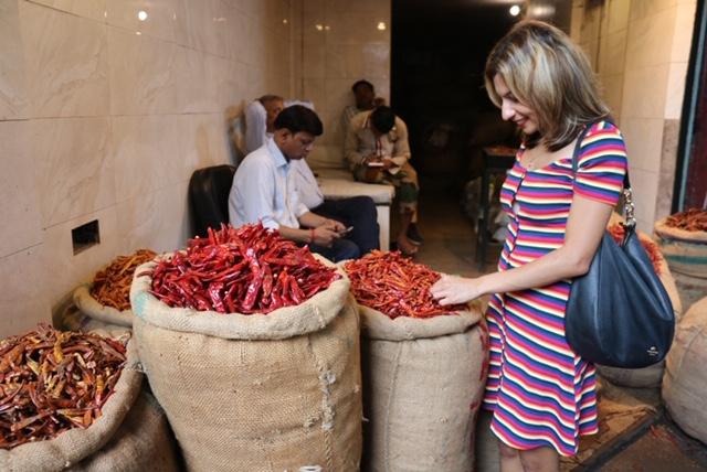 Spice markets in Chandni Chowk