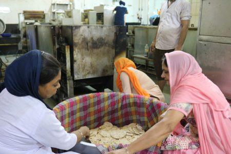 Cooking the food at Bangla Sahib Gurudwara