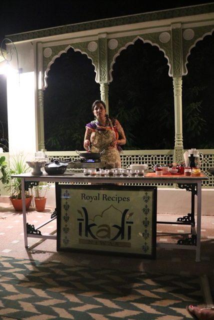 Cooking demonstration at Ikaki Niwas