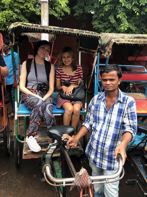 Cycle rickshaw ride in Old Delhi