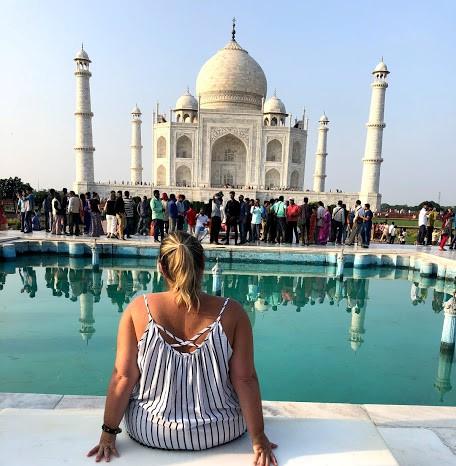 Crowd at the Taj Mahal
