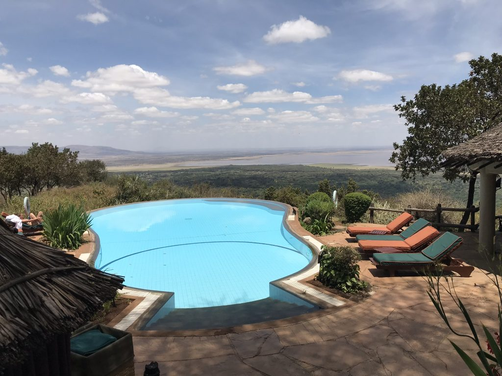 Pool with a view over the Tanzania plains