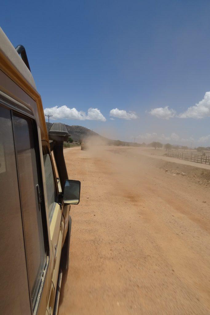 Dusty road on safari