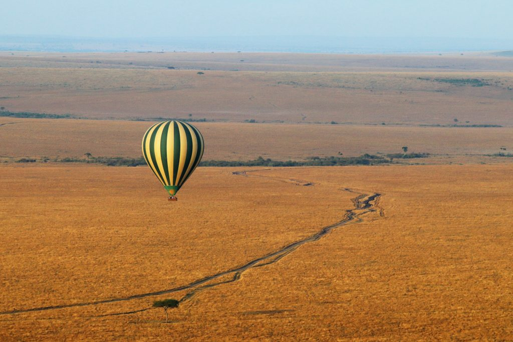 Hot air balloon ride across the Masai Mara