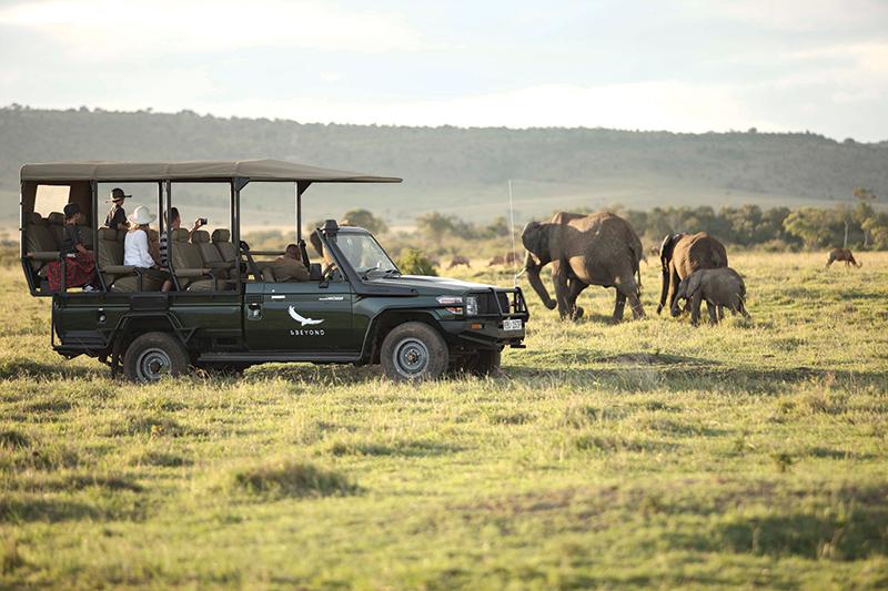 &Beyond game drive in Kenya