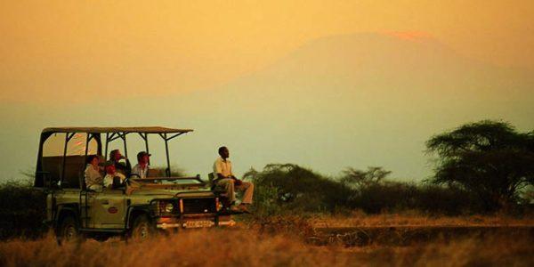 Sunset safari, Amboseli, Kenya