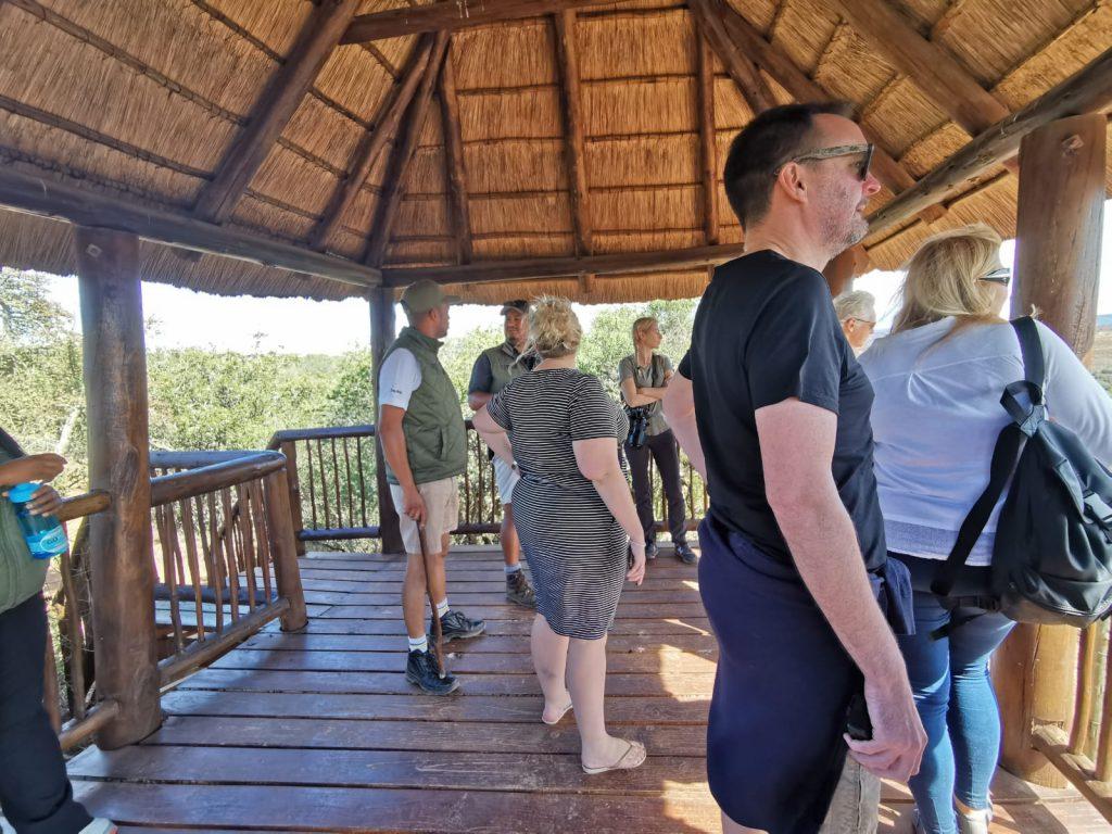 One of the viewing platforms at The Shamwari Big Cat Sanctuary