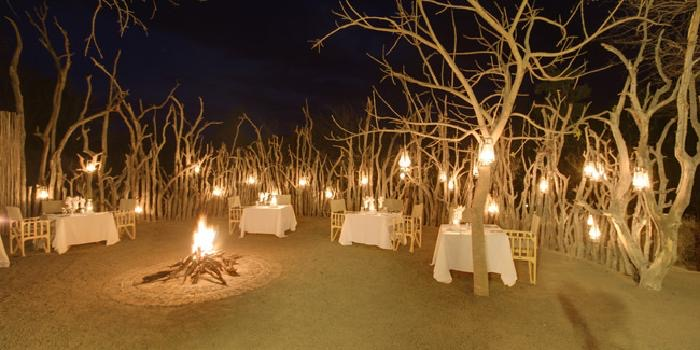 Evening dining at Kapama Karula in South Africa